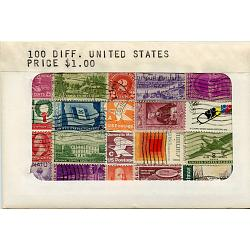 100 Different used United States Stamps